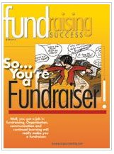 Mazarine Treyz, cover story, june, 2013, fundraising success magazine
