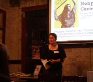 Here I am, speaking, at YNPN, Opal Devine's upstairs!
