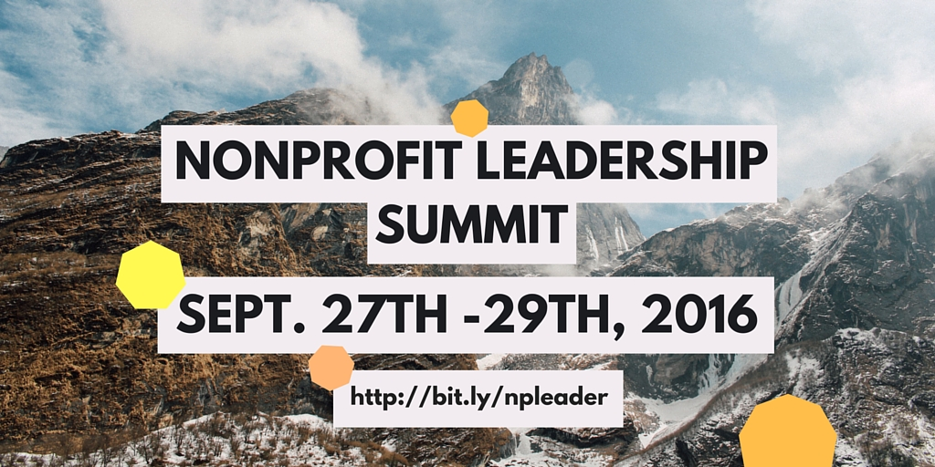 nonprofit leadership summit 2016