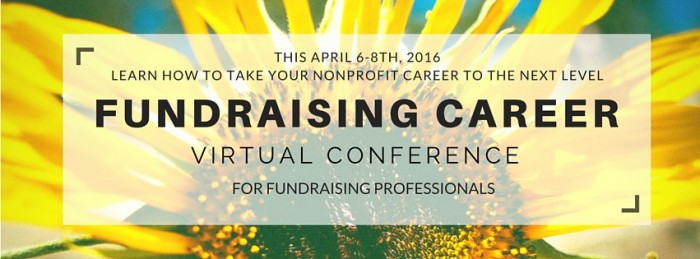 Join us for the Fundraising Career Conference 2016