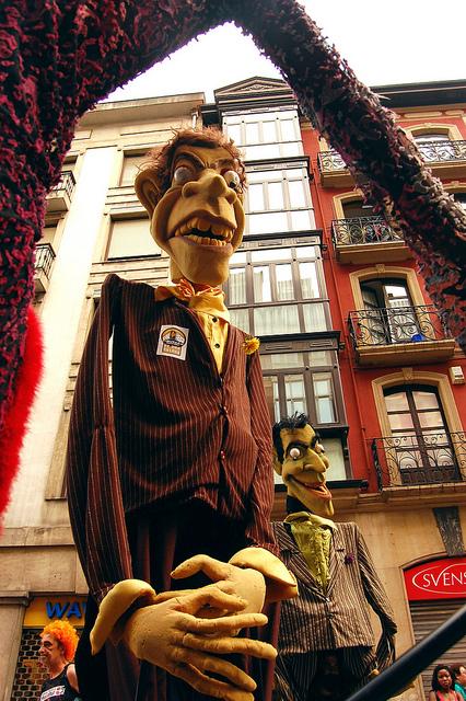 Protest Puppet from Paris: Image copyright 0olong from Flickr