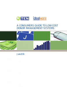Cover of the NTEN Database 2011 Report