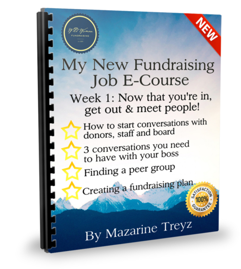 The first week in a fundraising job