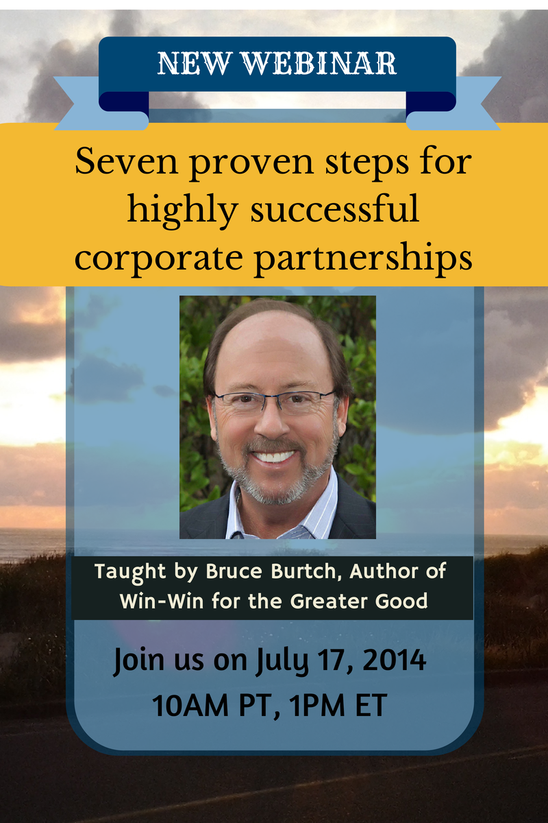 New Advanced Webinar: Seven proven steps for highly successful corporate partnerships