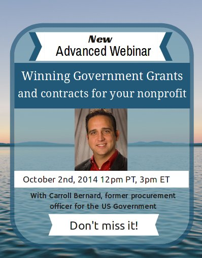 NEW Advanced Webinar: Winning Government Grants and Contracts