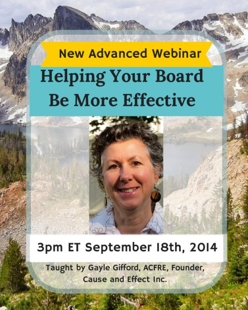 NEW Advanced WEBINAR: Helping Your Board Be More Effective