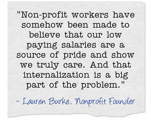 nonprofit salaries quote lauren burke