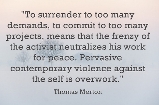 the frenzy of the activist neutralizes his work for peace -Thomas Merton
