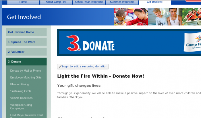campfire-donation-page