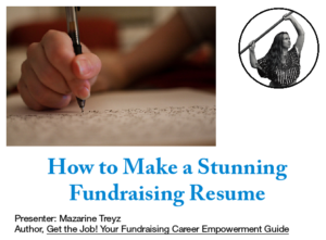how to make fundraising resume