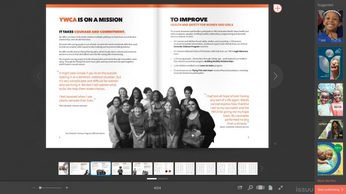 YWCA annual report example