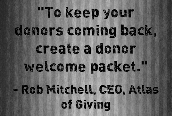 Keep donors quote