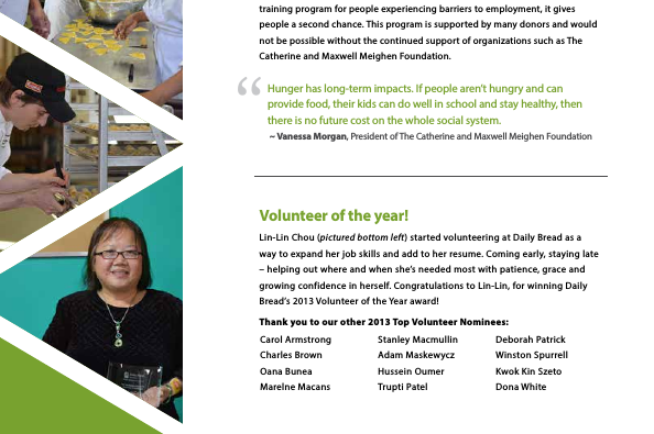 volunteer highlight annual report