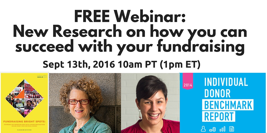 Free Webinar: September 13th- New Research on how your nonprofit can succeed in 2017