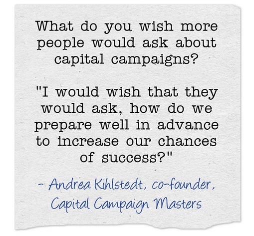 Andrea Kihlstedt capital campaigns