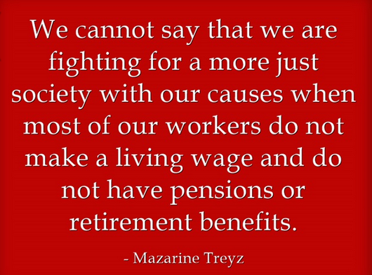 Mazarine treyz decent work quote