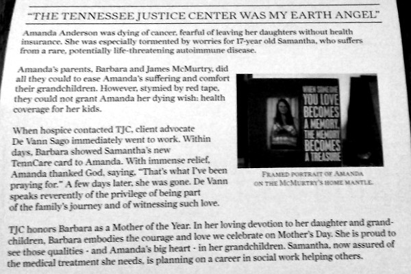 Tennessee Justice Center Mother's Day Appeal
