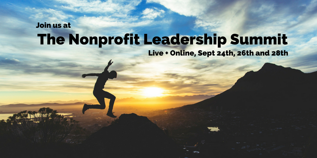 Here's our Nonprofit Leadership Summit schedule