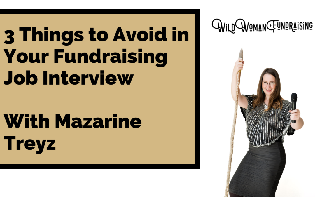 mazarine treyz, 3 things to avoid in fundraising job interview
