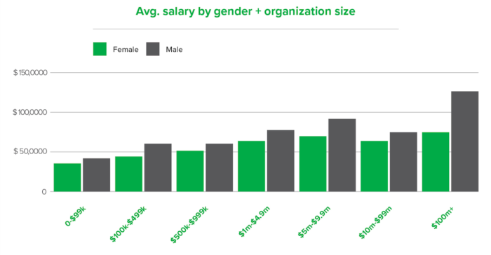 gender pay gap at nonprofits