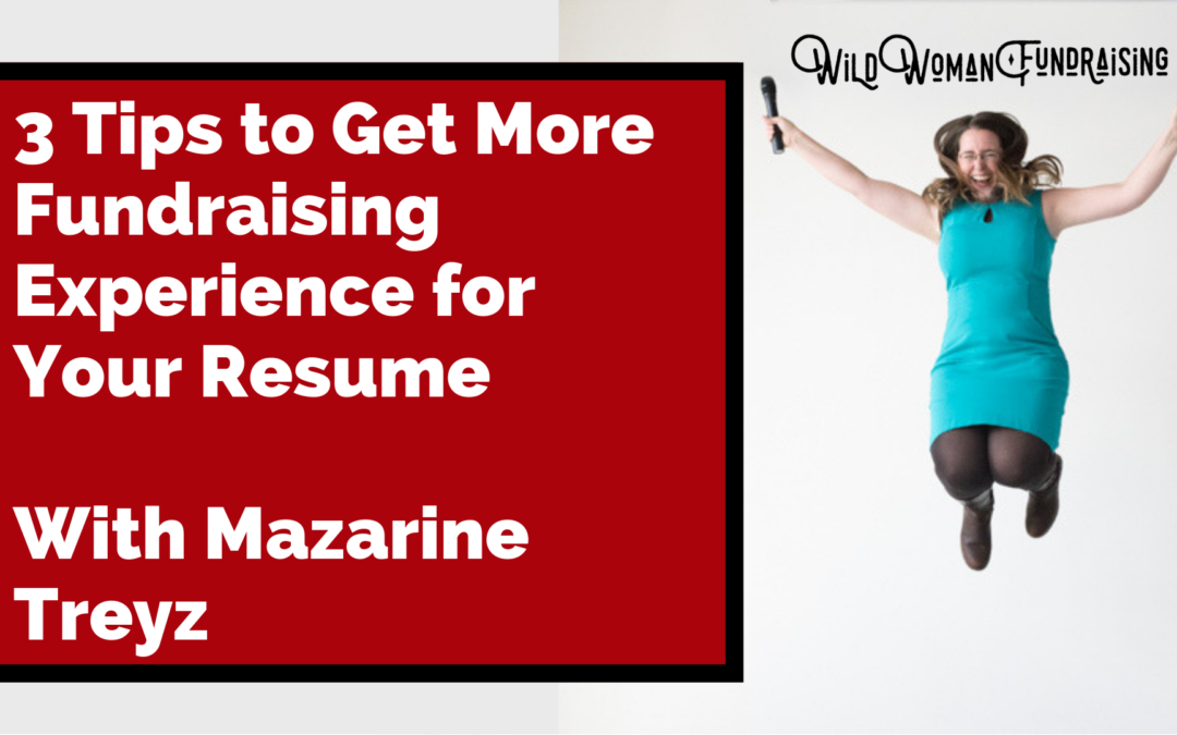 3 Tips to Get More Fundraising Experience For Your Resume