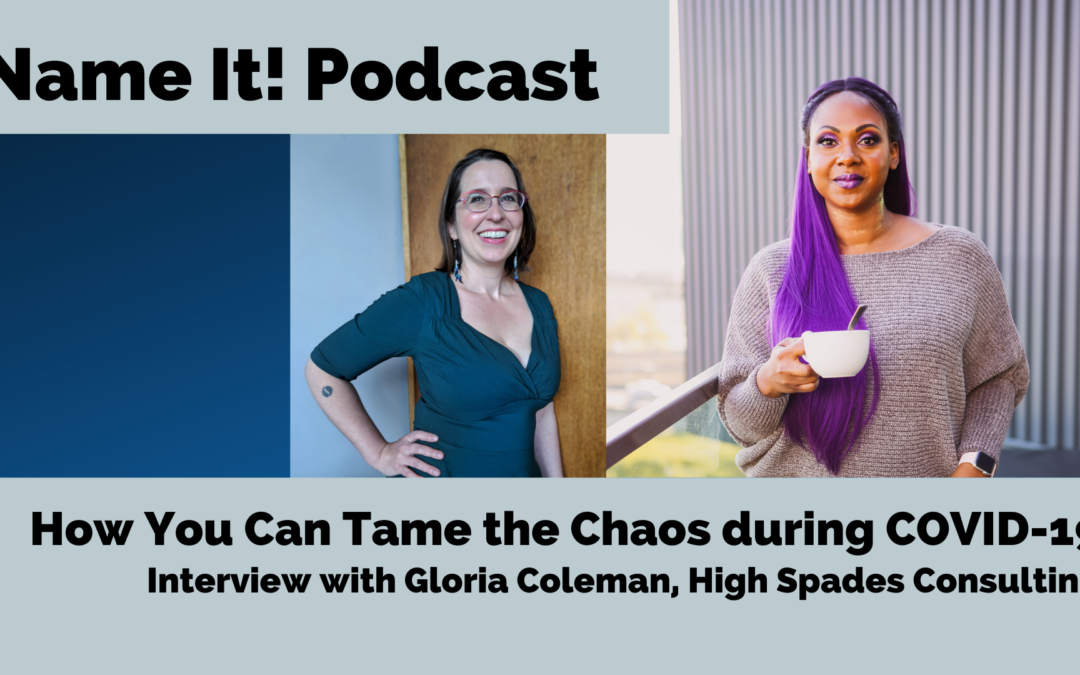 Name It Podcast: NEW Episode: Gloria Coleman explains how to tame chaos in crisis